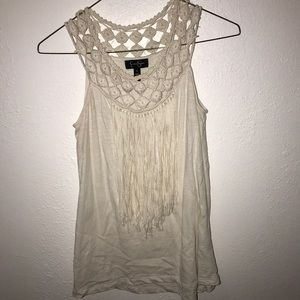 Jessica Simpson Off-White Tank Top